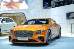 BENTLEY New Continental GT, su esposizione al trentanovesimo salone dell'automobile internazionale di Bangkok 2018 fotografia stock libera da diritti