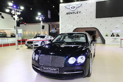 Bentley The New Flying Spur car on display Royalty Free Stock Photo