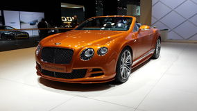 Bentley New GT speed. Bentley New GT speed at NY auto show 2014 Royalty Free Stock Photography