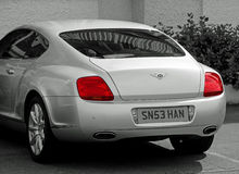 Bentley rear view profile Royalty Free Stock Photography