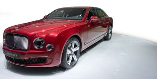 Bentley red supercar stock photography