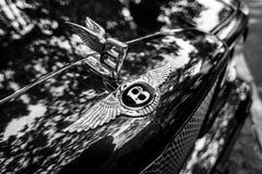 Bentley ` s kapiszonu ornament Zakończenie czarny white Fotografia Royalty Free