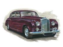 Bentley Silver Cloud II stock illustration