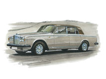 Bentley Silver Shadow Stock Image