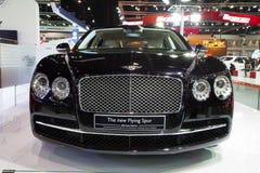 Bentley The sporrar det nya flyget bilen på expo för Thailand Internationalmotor Arkivfoton