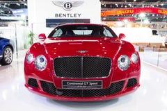 Bentley The sporrar det nya flyget bilen på expo för Thailand Internationalmotor Royaltyfri Bild