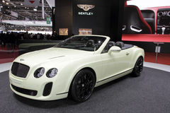 Bentley Supersport Convertible - 2010 Geneva Stock Photography