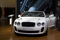 Bentley Supersports Convertibel in Parijs MotorShow Stock Foto