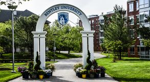 Bentley University Arch foto de archivo