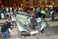 Bentley 3 5 Vanden Plas 1934 på 1000 mil lopp Royaltyfri Bild