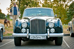 Bentley Zwarte Claccic Stock Foto's