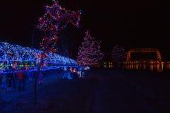 Bentleyville是圣诞节庆祝开放11月通过De 免版税库存图片