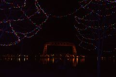 Bentleyville是圣诞节庆祝开放11月通过De 库存照片
