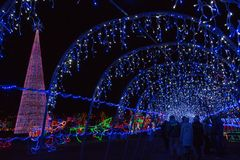 Bentleyville是圣诞节庆祝开放11月通过De 免版税图库摄影