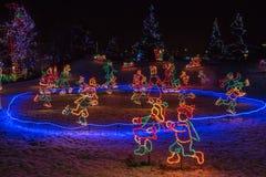 Bentleyville是圣诞节庆祝开放11月通过De 免版税库存照片