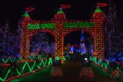 Bentleyville是圣诞节庆祝开放11月通过De 图库摄影