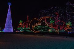 Bentleyville是圣诞节庆祝开放11月通过De 库存图片