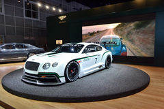 Bently GT3 race car. Bently GT3 at International Auto Show Stock Photography
