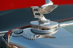 Bently. Metal sign at carshow Royalty Free Stock Photo