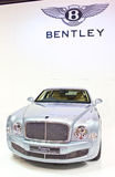 Bently Mulsanne Car on Display. BANGKOK - MARCH 27: Bently Mulsanne car on display at The 34th Bangkok International on March 27, 2013 in Bangkok, Thailand Royalty Free Stock Images