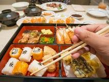 Bento box with sushi Stock Images