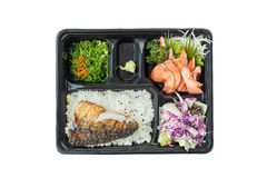 Bento the lunch from japan with  mask Stock Image