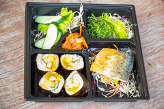 Bento lunchbox Japanese style Royalty Free Stock Photography