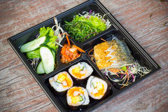 Bento lunchbox Japanese style Royalty Free Stock Photo