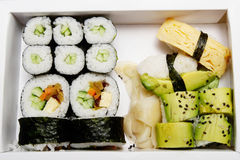 Bento - sushi do vegetariano Fotografia de Stock Royalty Free