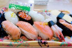Bento sushi set. In Japanese convenience store Stock Photography