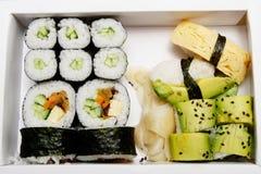 Bento - sushi vegetariano Fotografia Stock Libera da Diritti