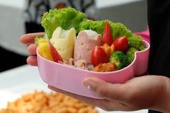 Bentodoos met sushi en Groente Stock Afbeeldingen