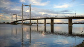 Benton Franklin Intercounty Bridge Columbia River Kennewick Washington stock video