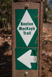 Benton MacKaye Trail Marker Stock Photos