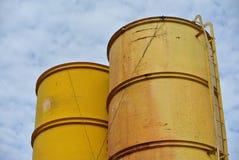 Bentonita i wody silos Fotografia Stock