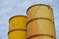 Bentonite and water silo Stock Photography