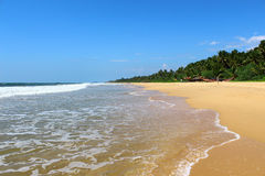 Bentota Beach and Indian Ocean Royalty Free Stock Photography