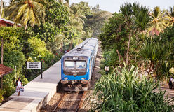 BENTOTA, SRI LANKA - APR 28: New Sri Lanka Railways Class S12 T Royalty Free Stock Photo