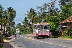 BENTOTA, SRI LANKA - DECEMBER 31, 2015: Regular public bus. Buse Royalty Free Stock Images