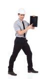 Benutzen Sie die digitale Tablette Stockbild