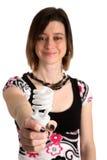 Benutzen Sie diese energiesparende Lampe Stockfotos