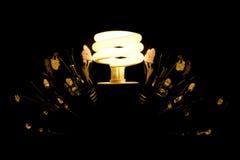 Benutzen Sie eco Leuchte Lizenzfreie Stockfotos