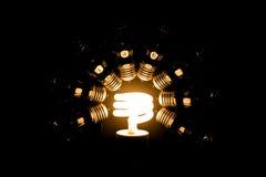 Benutzen Sie eco Leuchte Stockfoto