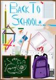 Benutzen Sie Feder-Zeichnungs-Feder zurück zu Schule stock abbildung
