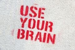 Benutzen Sie Ihre Gehirn-Graffiti stockbild