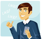 Benutzer des Sozialen Netzes Stockbild