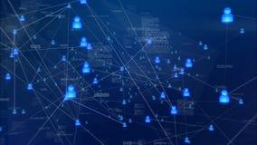 Benutzer und Datenaustausche lizenzfreie abbildung