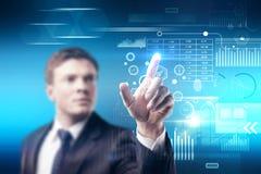 Benutzer und Technologiekonzept lizenzfreies stockfoto