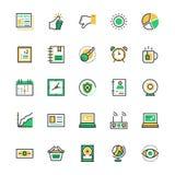 Benutzerschnittstelle und Netz farbige Vektor-Ikonen 8 Lizenzfreies Stockbild