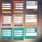 Benutzerschnittstellen-Elementsätze Anmeldung und Lizenzfreie Stockfotos